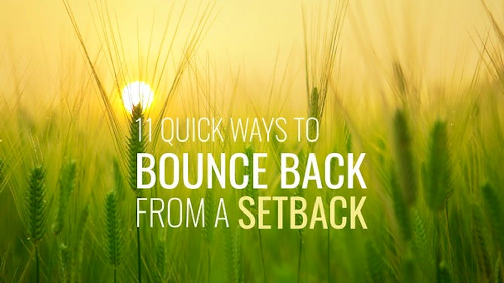 11 Quick Ways To Bounce Back From A Setback - Slide Deck